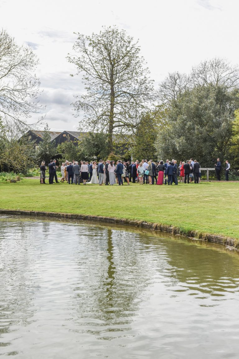 Wedding photography at Preston Court in Canterbury - the ceremony