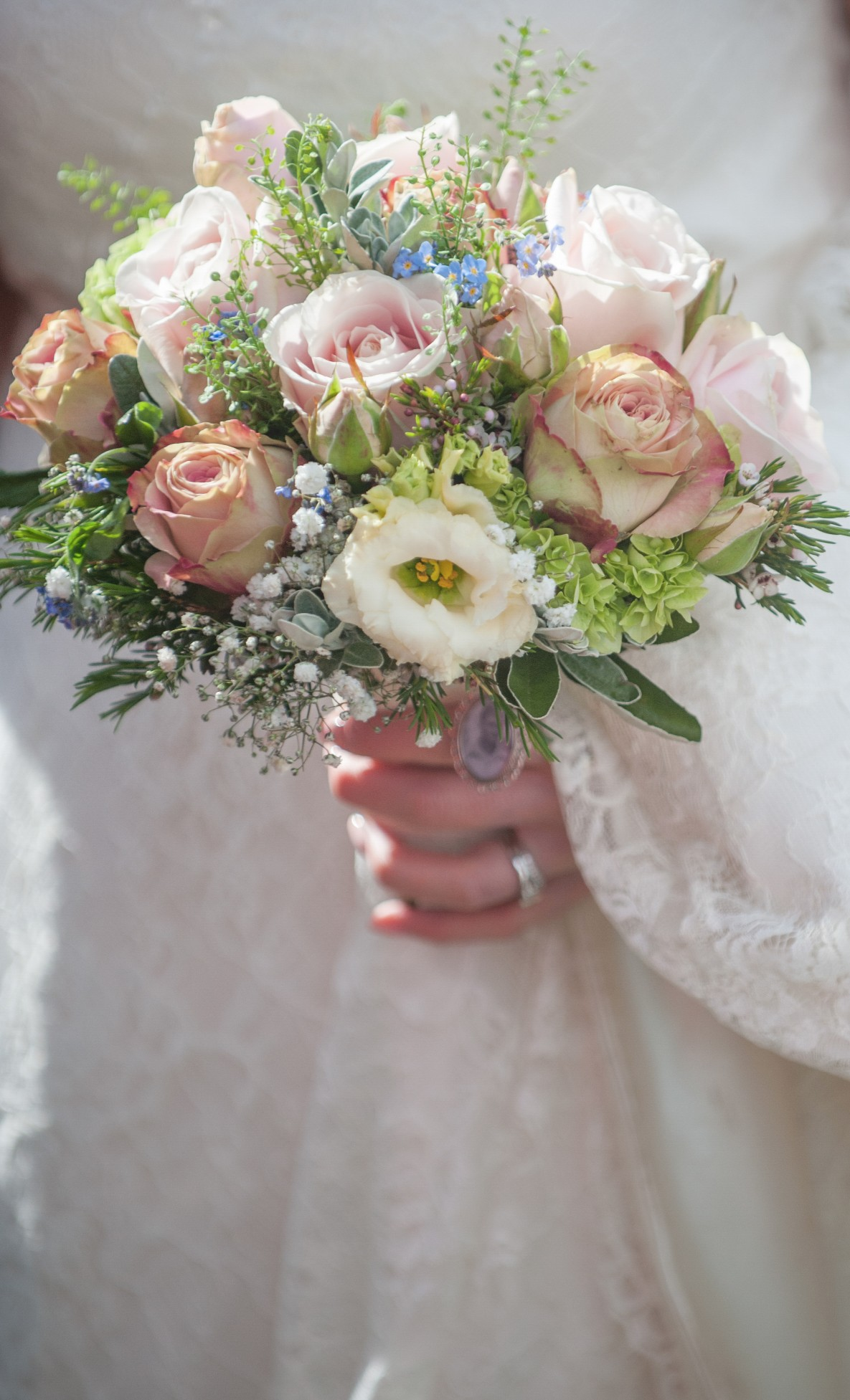 Wedding photography at Preston Court in Canterbury - the bouquet