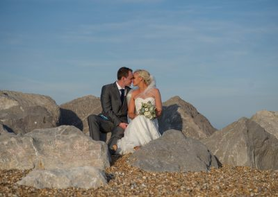 Wedding photography - Hythe beach wedding - bride and groom