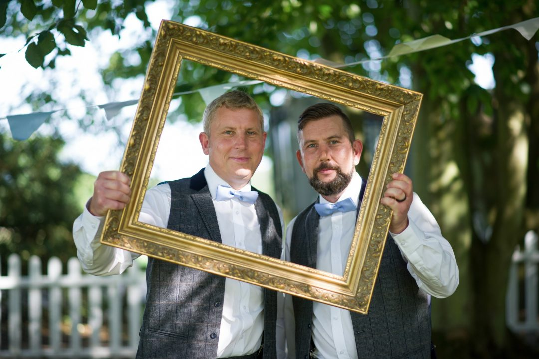Wedding photography - rustic themed wedding at Hayne House in Saltwood, Kent - groom and best man