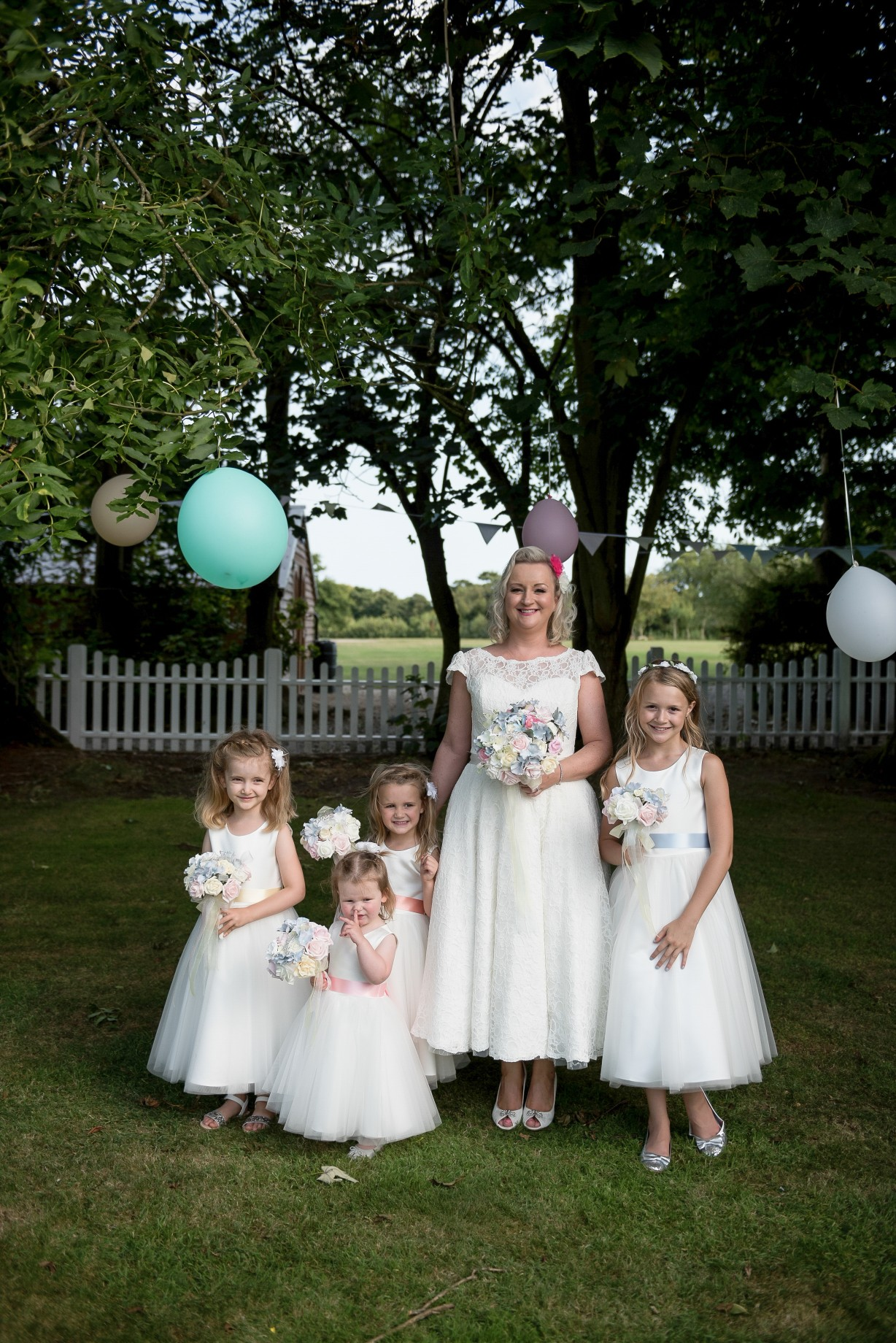 Wedding photography - rustic themed wedding at Hayne House in Saltwood, Kent - bride and bridesmaids