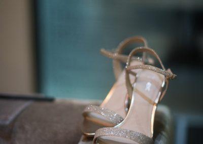 Wedding photography at Tudor Barn in Eltham - the wedding shoes
