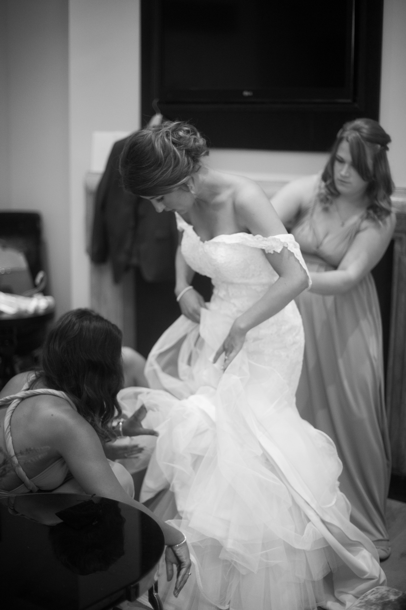 Wedding photography at Tudor Barn in Eltham - bridal preparations