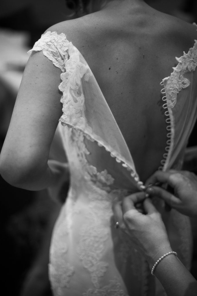 Wedding photography at Tudor Barn in Eltham - bridal preparations