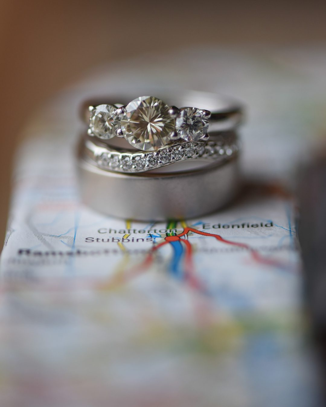 Wedding photography at Preston Court in Canterbury - the wedding rings