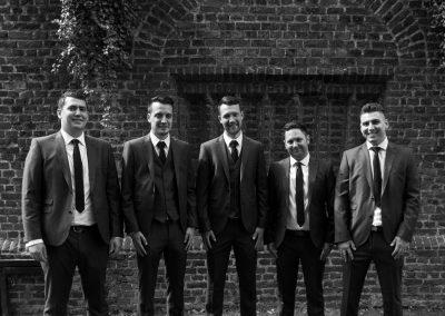 Wedding photography at Tudor Barn in Eltham - the groomsmen