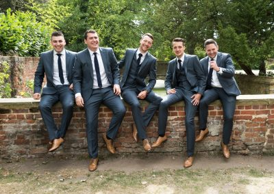 Wedding photography at Tudor Barn in Eltham - the groomsmen