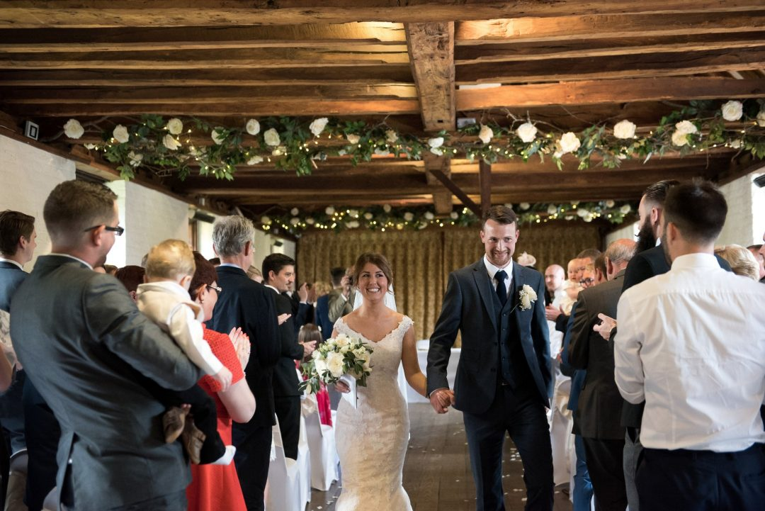 Wedding photography at Tudor Barn in Eltham - the ceremony