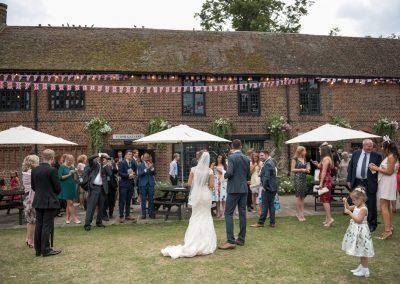 Wedding photography at Tudor Barn in Eltham - the ceremony