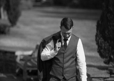 Wedding photography at Tudor Barn in Eltham - the groom