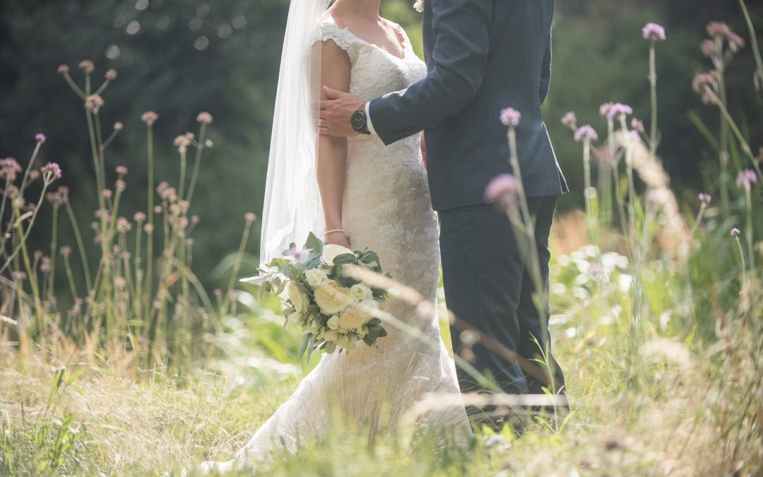 Wedding photography at Tudor Barn in Eltham - the bride and groom
