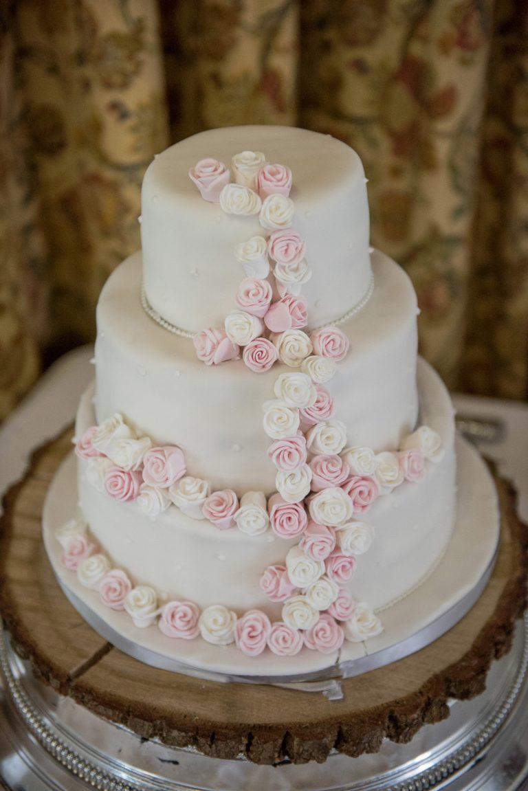 Wedding photography at Tudor Barn in Eltham - the wedding cake