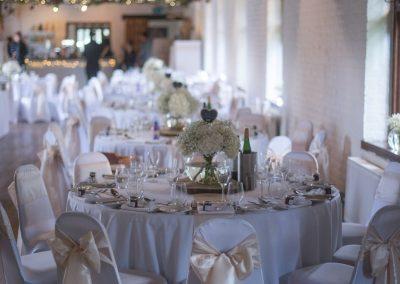 Wedding photography at Tudor Barn in Eltham - venue interior