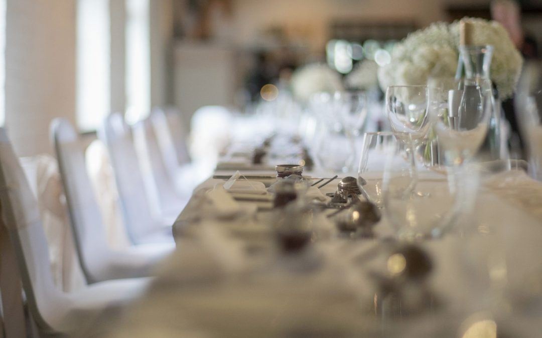 Wedding photography at Tudor Barn in Eltham - table detail