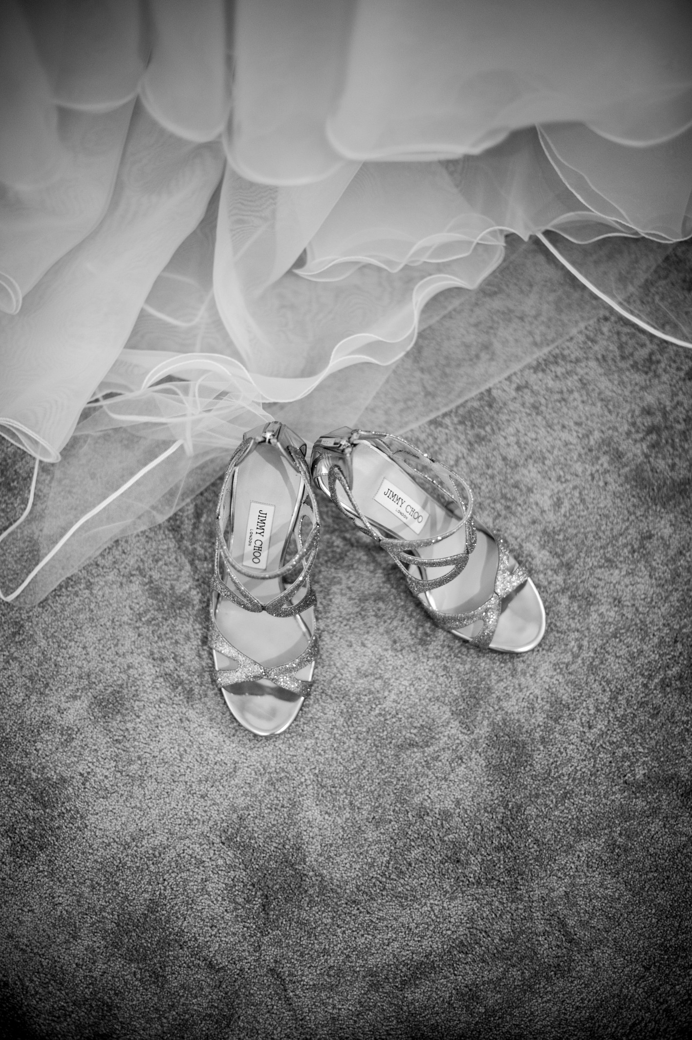 Wedding photography at Farnham Castle in Surrey - the wedding shoes