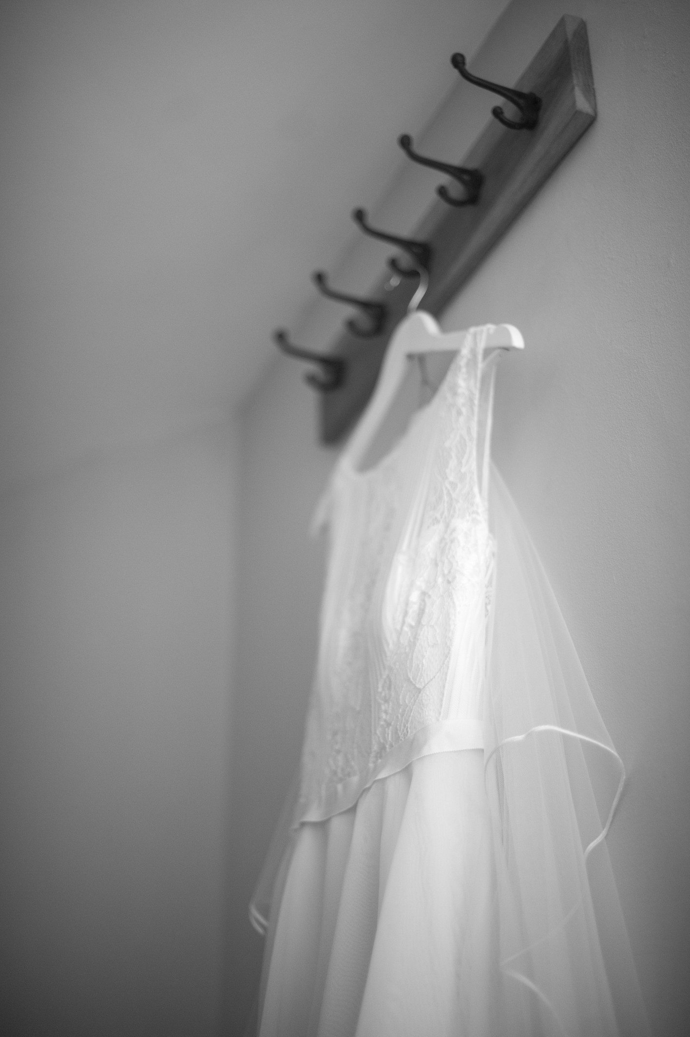 Wedding photography at Farnham Castle in Surrey - the wedding dress