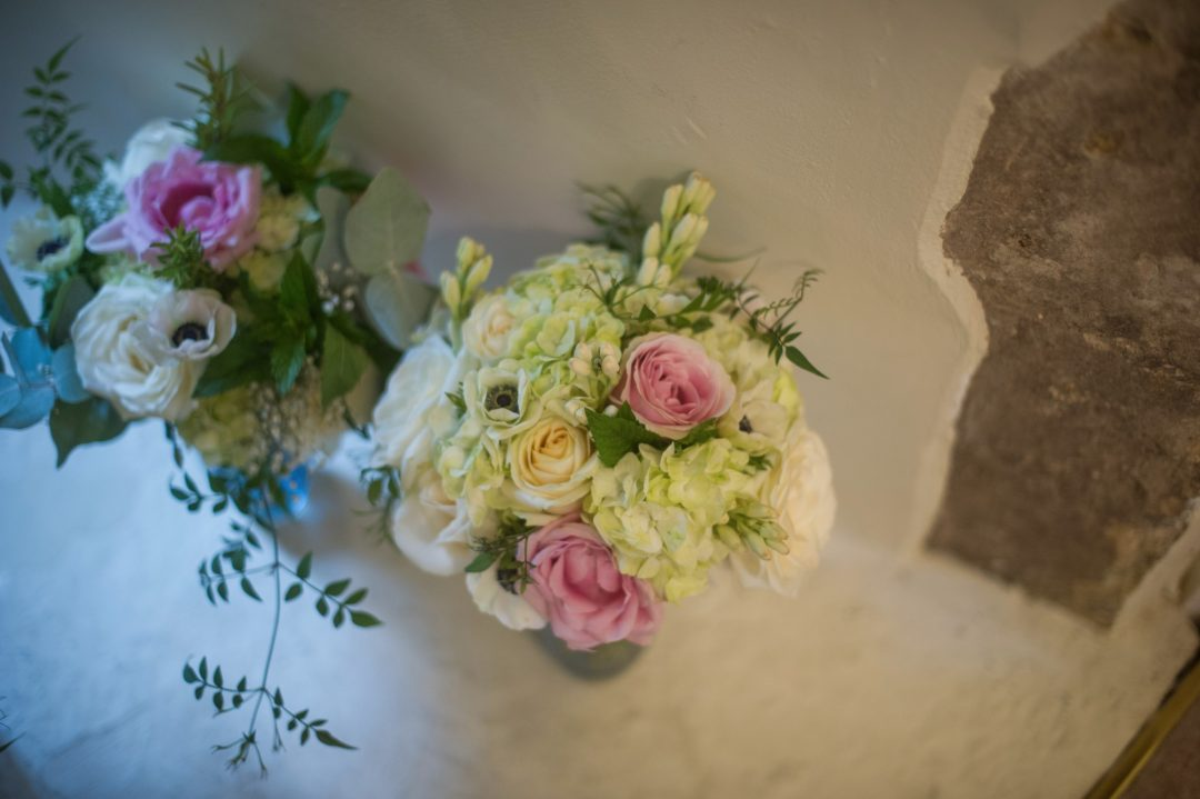 Wedding photography at Farnham Castle in Surrey - the wedding flowers