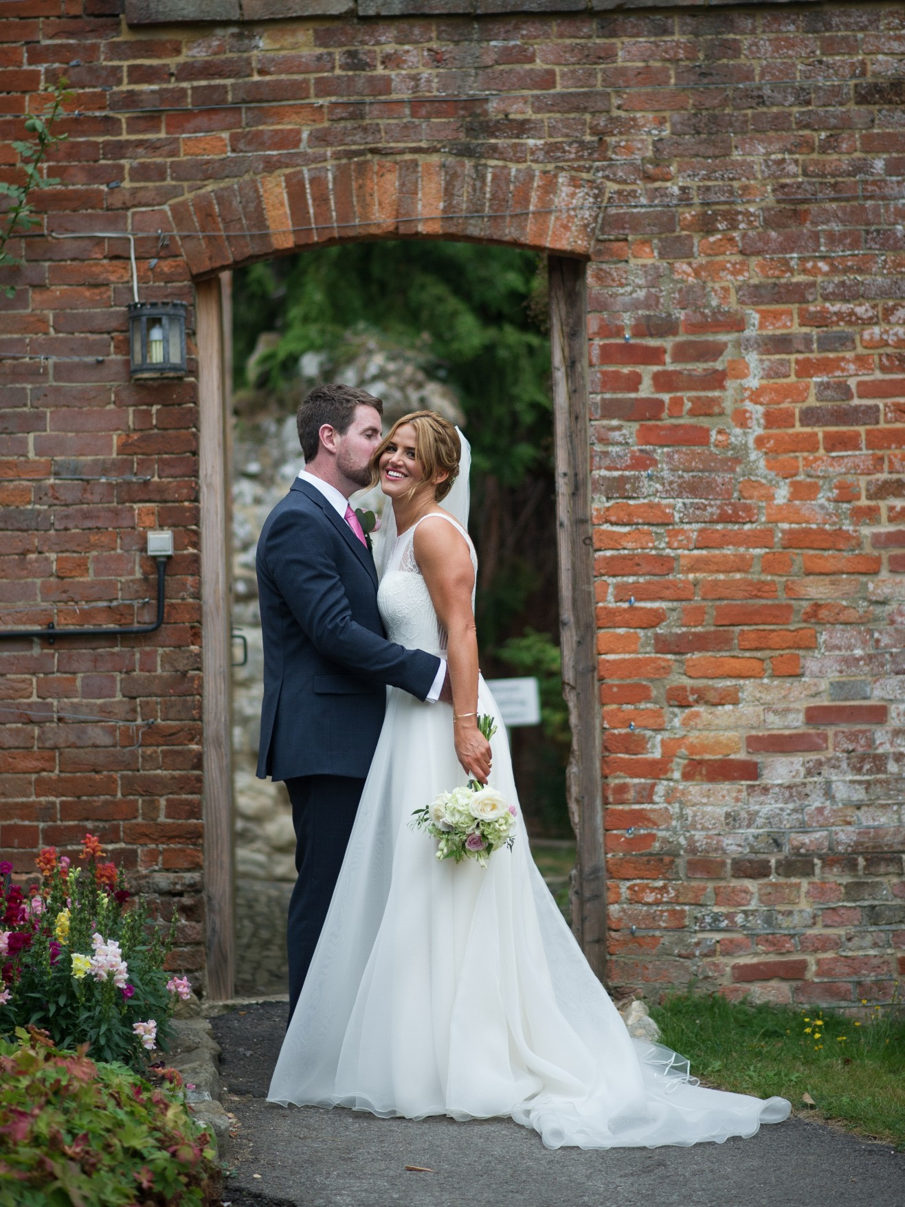 Wedding photography at Farnham Castle in Surrey - the bride and groom