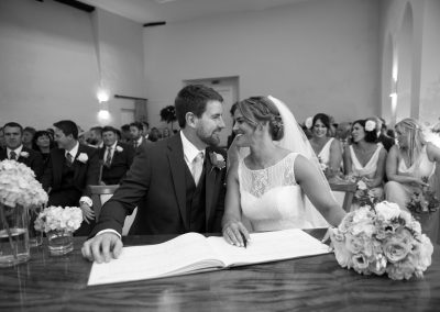 Wedding photography at Farnham Castle in Surrey - the ceremony
