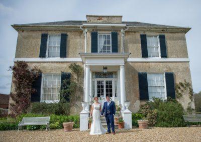 Wedding photography at Preston Court in Canterbury - bride & groom