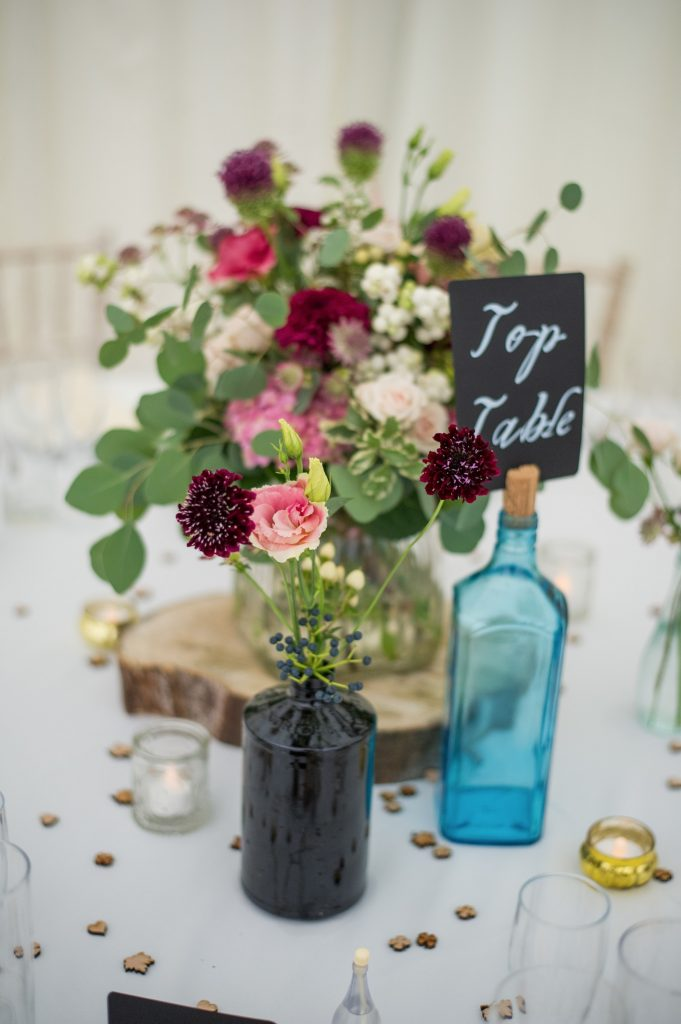 Wedding photography - wedding at Hayne house in Saltwood - table settings