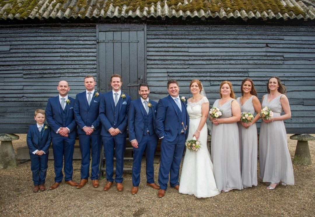 Wedding photography at Preston Court in Canterbury - bridal party