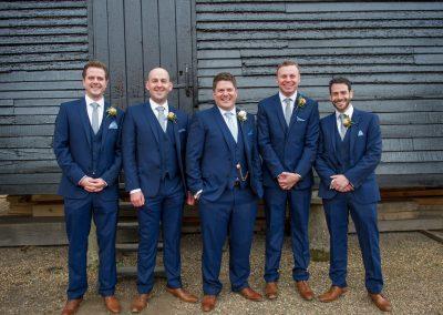 Wedding photography at Preston Court in Canterbury - groomsmen