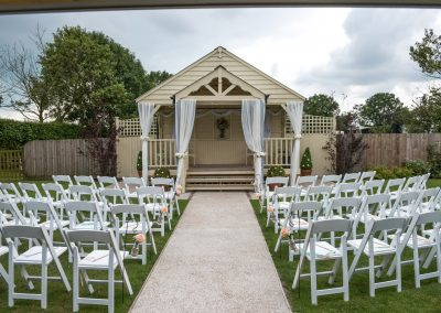 Wedding photography at Red Barn in Capel - the ceremony