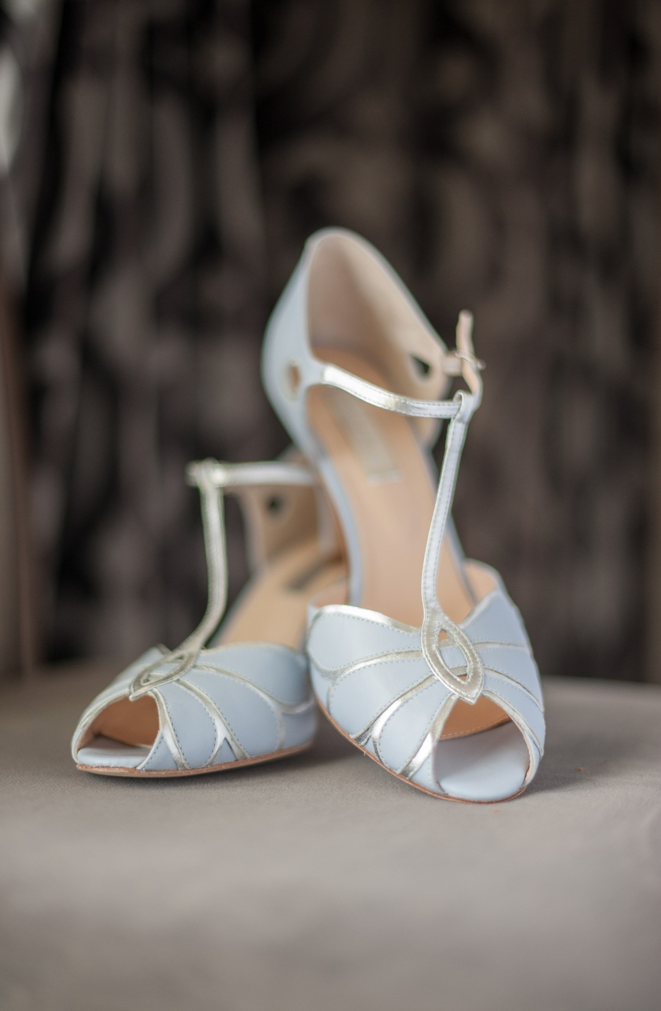 Wedding photography at Preston Court in Canterbury - brides shoes
