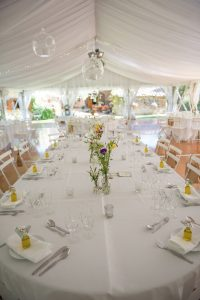 Wedding photography - South of France wedding - the marquee, interior