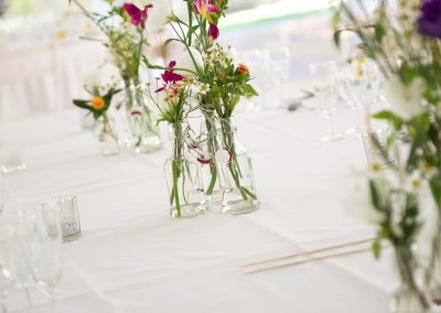 Wedding photography - South of France wedding - table flowers