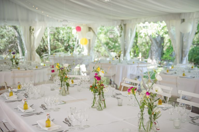 Wedding photography - South of France wedding - marquee, interior decor