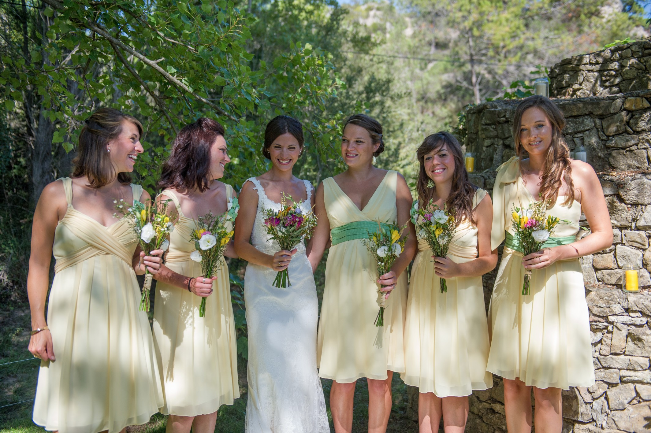 Wedding photography - South of France wedding - the bride and her bridesmaids