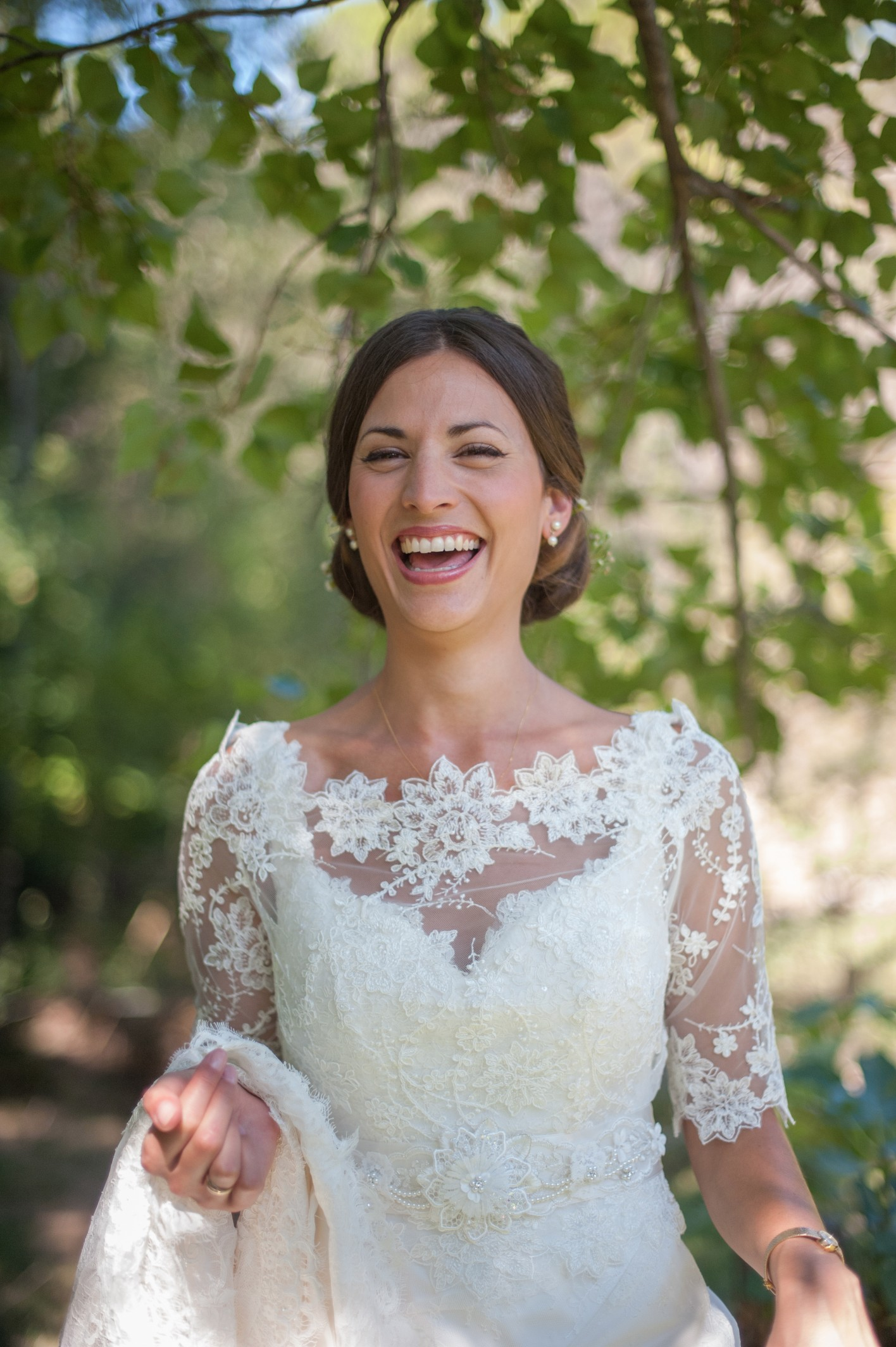 Wedding photography - South of France wedding - the happy bride