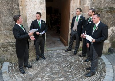Wedding photography - South of France wedding - the groom and groomsmen