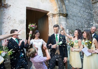 Wedding photography - South of France wedding - throwing the confetti