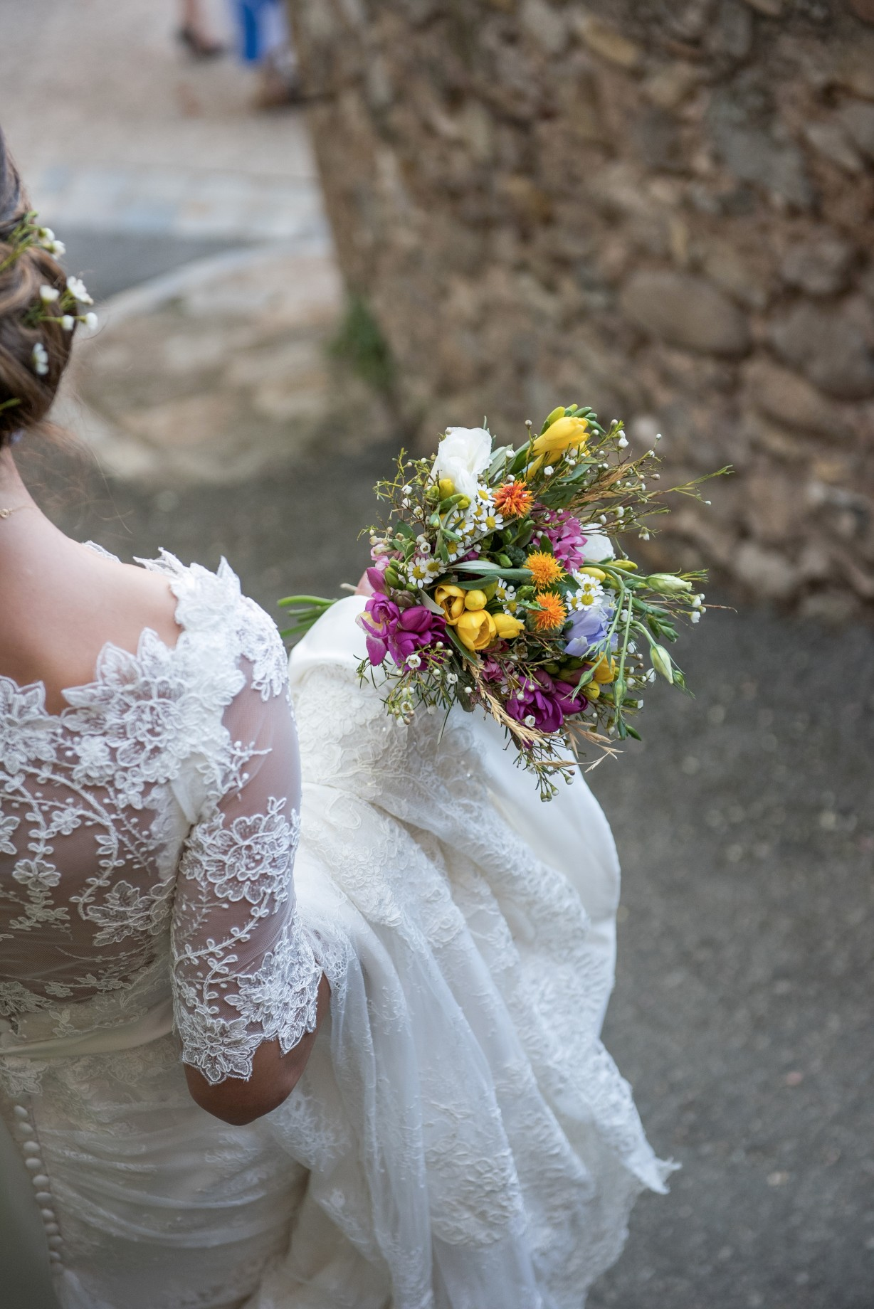 Wedding photography - South of France wedding - the bride and flowers
